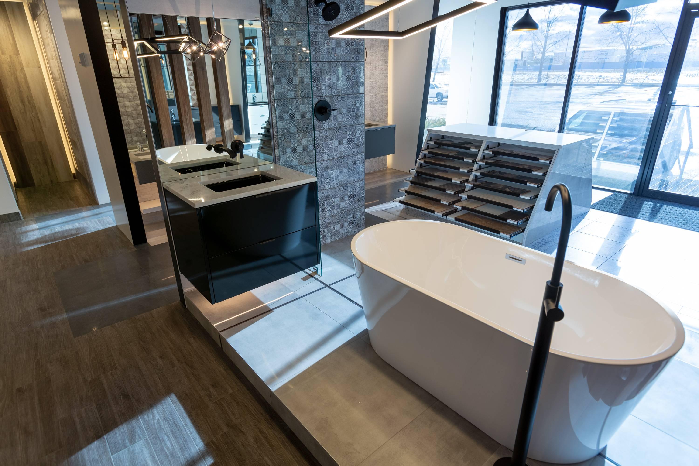 Bathroom fixtures in TILETOPIA Calgary Showroom