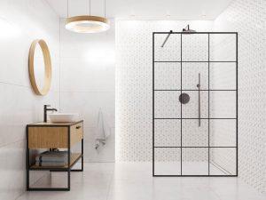 Rhombus calacatta shower