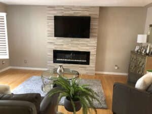 Woodmania Taupe fireplace