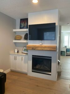 Premium White Fireplace (1)